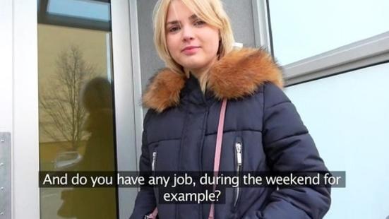 Пикапер трахает молодую студентку, желающую сниматься в порно за большие деньги